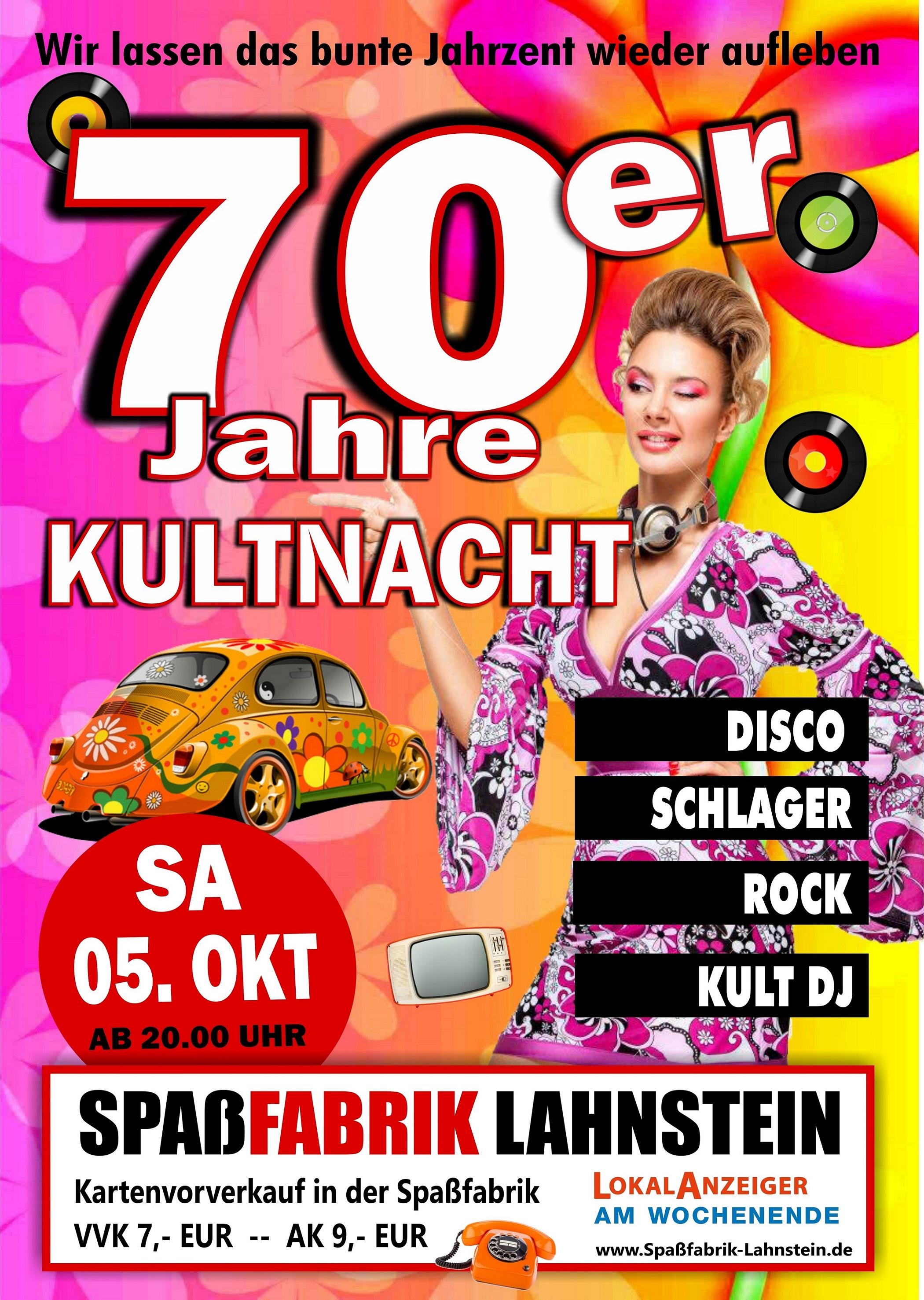 Spaßfabrik 70er Party 2019